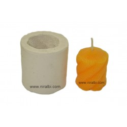 Designer Round Shape Pillar Candle Mould