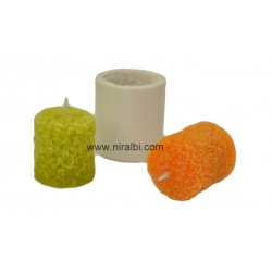 Designer Rose Flower Pillar Candle Mould