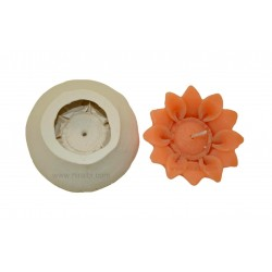 Niral Handmade Rubber Sunflower Candle Mould - 30 gm