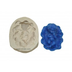 Niral Sleeping Baby On Flower Rubber Silicone Mold