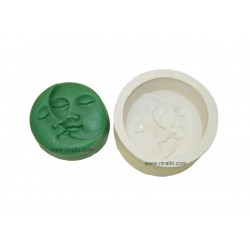 Super 2D Sun Moon Faces Silicone Soap Making Mould