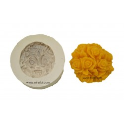 3D Rose Flower Rubber Soap Mould