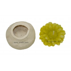 Niral Flower Rubber Candle Mould