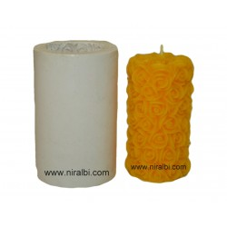 Big Pillar Flower Candle Mould