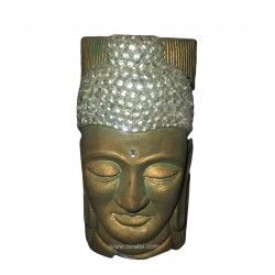 Buddha Face Designer Pillar Candle Mould