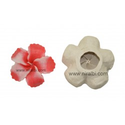 Hibiscus flower floating candle mould